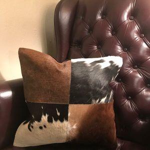 Cowhide Pillow -Western Farmhouse